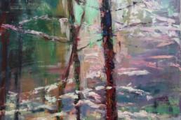 IM WALD 2, 2015/16, Öl auf Leinwand