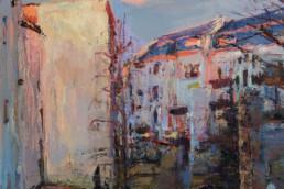 BLICK VOM BALKON 2015/20, Öl auf Leinwand, 70 x 70