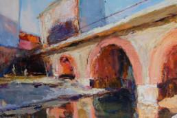 GIESSERBRÜCKE 3 2010/17, Öl auf Leinwand, 90 x 80