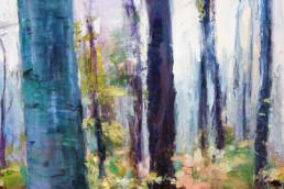 AUENWALD IM HERBST, 2014/19, Öl auf Leinwand, 150 x 120