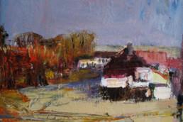 ALTES GEHÖFT 2008, Öl auf Leinwand, 60 x 60